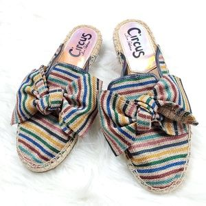 Circus by Sam Edelman Rainbow Stripes Lulu Mules